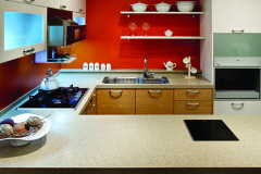 Residentail Kitchen, Staron Caraway Solid Surface Countertops