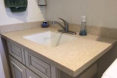DIY Solid Surface Laundry Counter with Integral Solid Surface Utility Sink