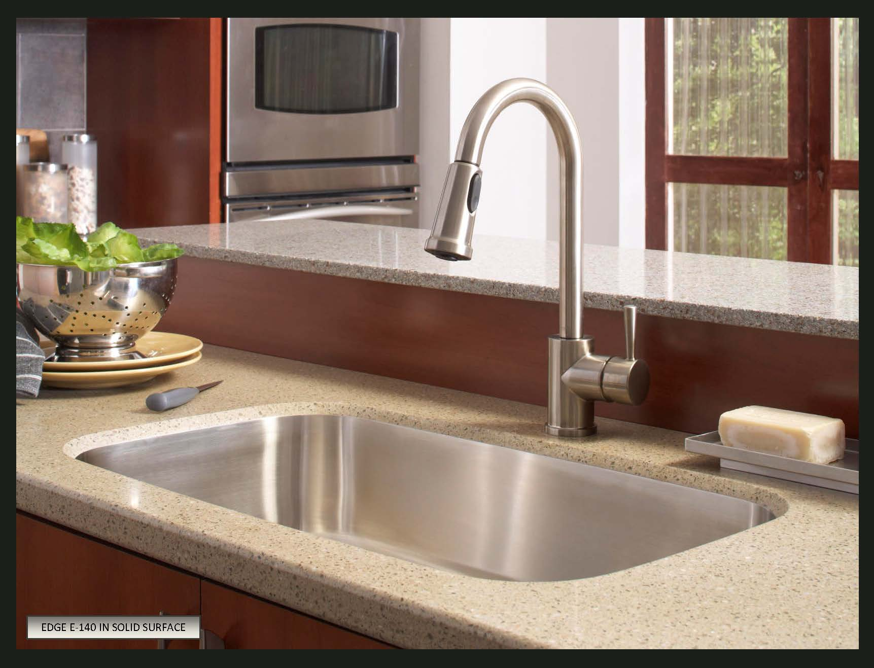 choose sink solid surface countertops stainless steel kitchen sink Karran Undermount Stainless Steel Sinks