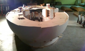 ASST's Corian® desk before glue-up and sanding (Fig. 3)