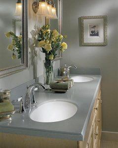 Corian dual vanity