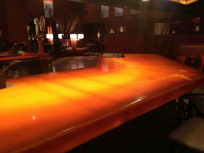 Avonite Studio Collection Solid Surface Thermoformed Back Lighted Bar Counter