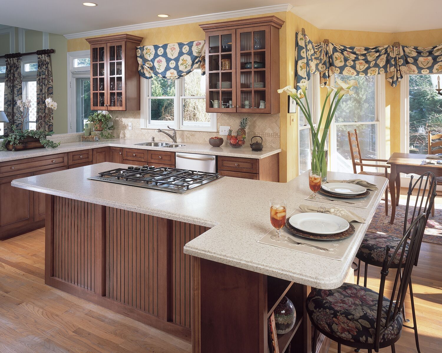 Residential Kitchen, HI-MACS Tambora Solid Surface Countertops