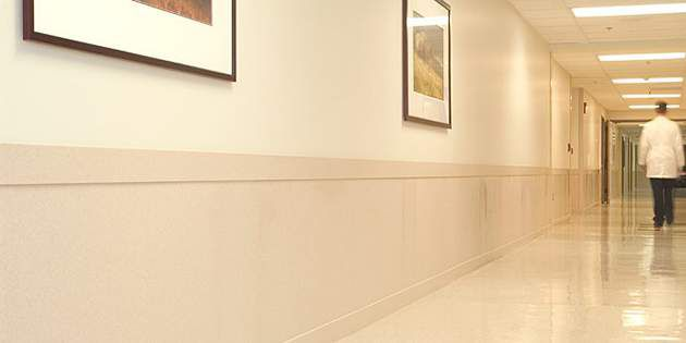 Corian Solid Surface Corridor Wall Protection