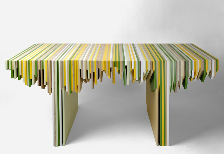 Furniture Made from Recycled Corian Solid Surface