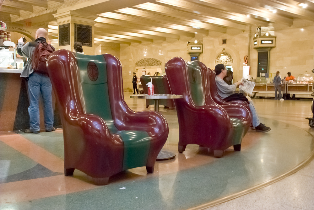 Grand Central Terminal Chairs of Corian Solid Surface