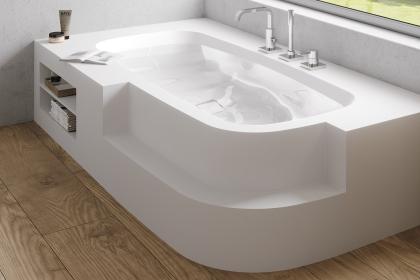 Corian Thermoformed Custom Bathtubs Made by Hasenkopf