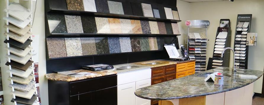 Countertop Materials Showroom 2. (Hero Shape)