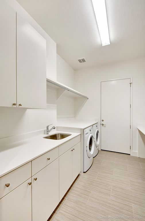 pid221 - Laundry Room Countertops Made from Corian Designer White Solid Surface