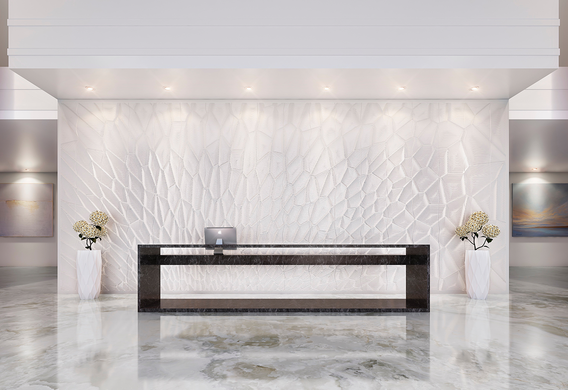 pid227 Corian Wall Cladding by M.R. Walls