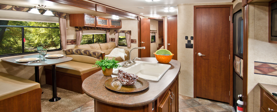 pid331 -  Solid Surface Countertop in a Recreation Vehicle