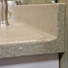 Solid Surface Countertop with Coved Backsplash