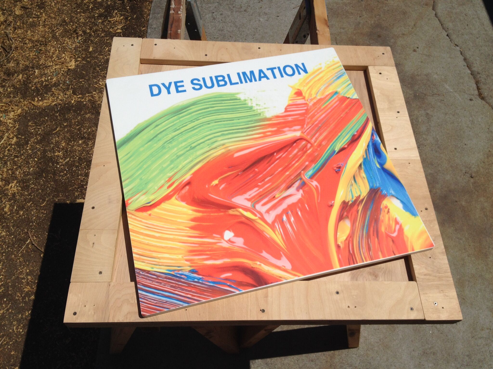 Solid Surface Signage Using Dye Sublimation