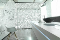 Krion Solid Surface Sculpted Room Divider