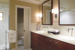 Formica Pearl Mica Solid Surface Residentail Bathroom Vanity Top and Backsplash