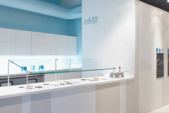 Chill Yogurt Parlor. Serving Area and Walls are Formica Solid Surface
