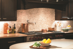 Formica Solid Surface Residential Kitchen and  Island with Extended Width Dropped Edge