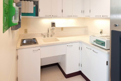 Healthcare Cabinets and Countertop Made of LG HI-MACS Solid Surface