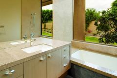 LG HI-MACS Solid Surface Residential Bathroom Vanity Top, Sink and Tub Surround