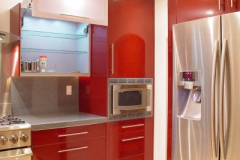 Avonite Residential Kitchen Countertop, Drawers and Cabinets all of Solid Surface