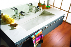 Staron Solid Surface Residential Vanity Top and Custom Sink