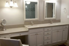 Avonite Solid Surface Residential Bathroom Vanity Top and Integrated Solid Surface Sinks
