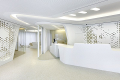 Bank, Reception Area and Backdrop of HI-MACS Alpine White