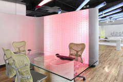 Corian Backlit Thermoformed Translucent Solid Surface Office Space Dividers