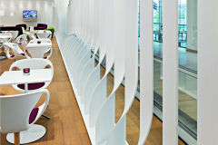 Hasenkopf Project Bavaria Lounge Wall Divider of Corian Solid Surface