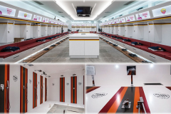 Krion Solid Surface Signage for Locker Rooms