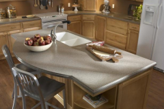 LG HI-MACS Solid Surface Island and Counters in a Home