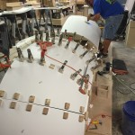 ASST fastened the Corian® to the understructure (Fig. 2)