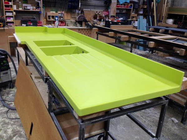Corian Grape Green Solid Surface