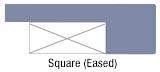 Square (eased) edge profile