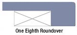 One-eighth roundover edge profile