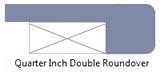 Quarter inch double roundover edge profile