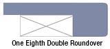 One-eighth double roundover edge profile